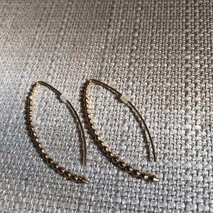 Gold beaded hoop style earring